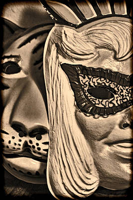 Jeff Digital Art - Joking Masks by Jeff  Gettis