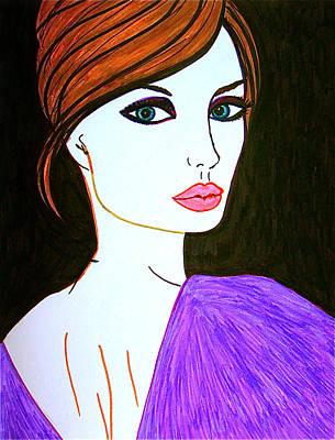 Pop Art Drawing - Jolie by Alesya Cabral