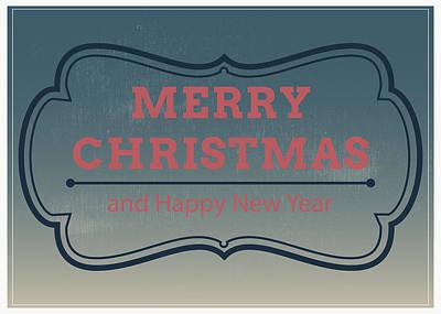 Christmas Painting - Jolly Christmas Greeting Card by Florian Rodarte