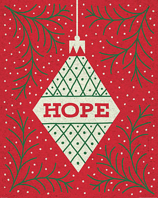 Hope Painting - Jolly Holiday Ornaments Hope by Michael Mullan