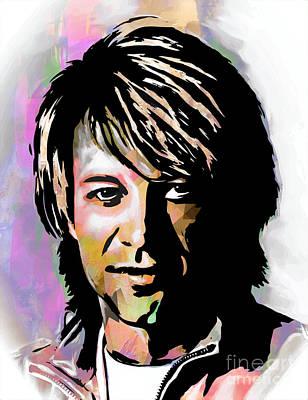 Singer Digital Art - Jon Bon Jovi  by Andrzej Szczerski