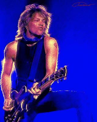 Rock N Roll Icons Digital Art - Jon Bon Jovi by John Travisano