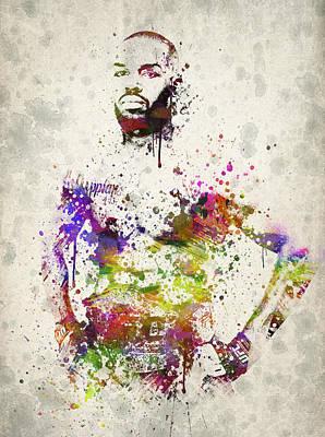 Sumo Drawing - Jon Jones by Aged Pixel