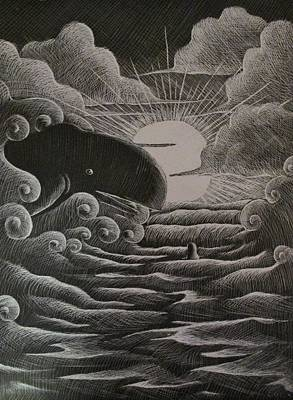 Jonah And The Whale Print by Catlin Perry