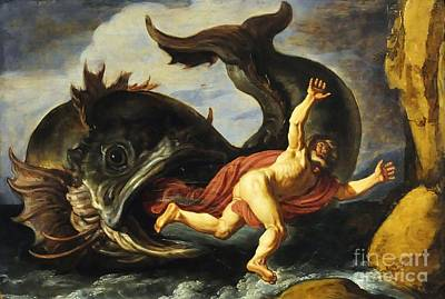 Jonah Painting - Jonah And The Whale by Pg Reproductions