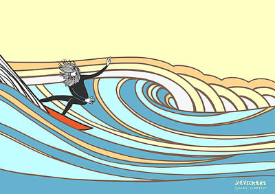 Surfing Art Mixed Media - Jonas Claesson And Joe Vickers Collab by Joe Vickers