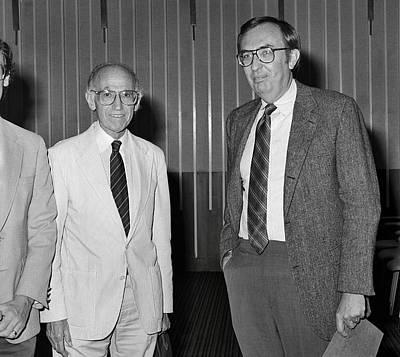 Frederick Photograph - Jonas Salk And Frederick Murphy by Cdc