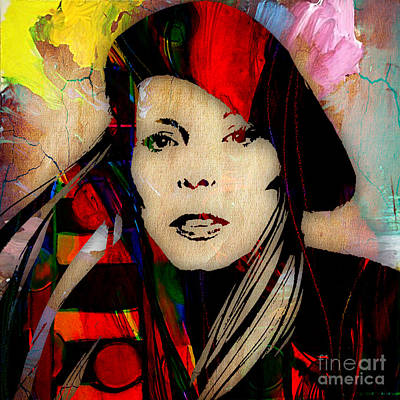 Joni Mitchell Collection Print by Marvin Blaine