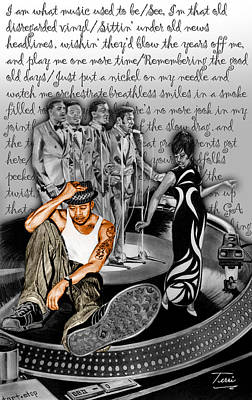 Soul Singer Drawing - Jook Joint by Terri Meredith