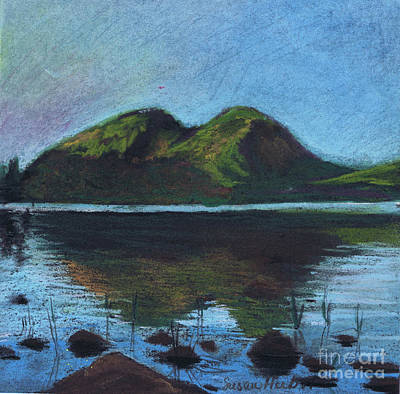 Maine Mountains Painting - Jordon Pond And The Bubbles by Susan Herbst