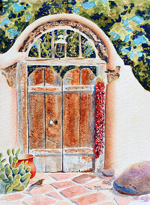Las Cruces Painting - Josefina's Old Gate by Deb  Harclerode