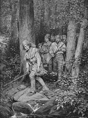 Joseph Brown Leading His Company To Nicojack, The Stronghold Of The Chickamaugas, Engraved Print by Howard Pyle
