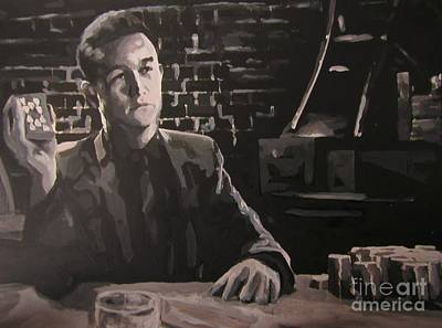 Heart Images Painting - Joseph Gordon Levitt As Johnny From Sin City Two by John Malone