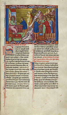 Bible Photograph - Joseph Recounting A Dream To Jacob by British Library