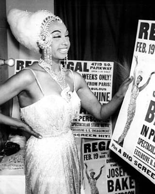 Singer Photograph - Josephine Baker by Retro Images Archive