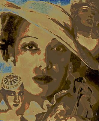 Singer Digital Art - Josephine Baker Story by  Fli Art
