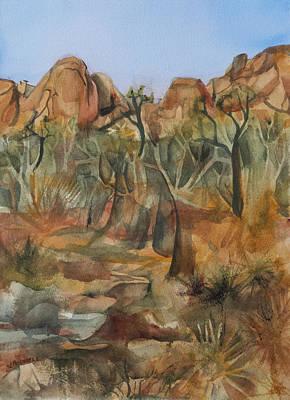 Joshua Ghost Trees Print by Lynne Bolwell