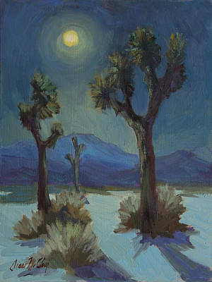 Moonlight Painting - Joshua Moonlight 2 by Diane McClary