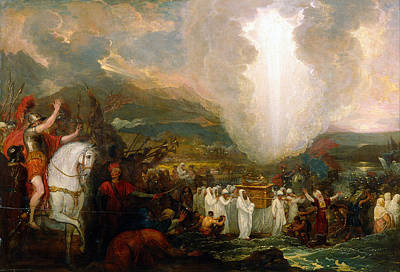 Joshua Passing The River Jordan With The Ark Of The Covenant Print by Benjamin West