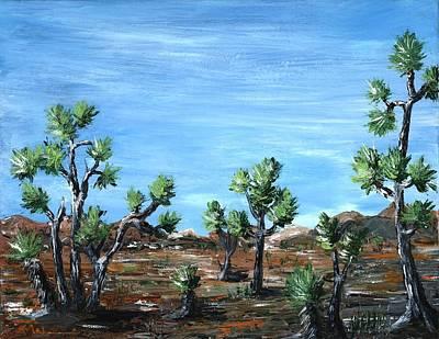 Tree Painting - Joshua Trees by Anastasiya Malakhova