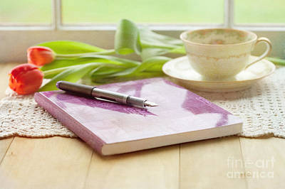 Journal Photograph - Journal And Coffee by Kay Pickens