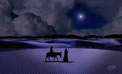 Journey To Bethlehem Print by Schwartz