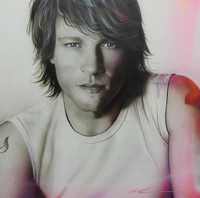 Jon Bon Jovi Painting - Jon Bon Jovi - ' Jovi ' by Christian Chapman Art