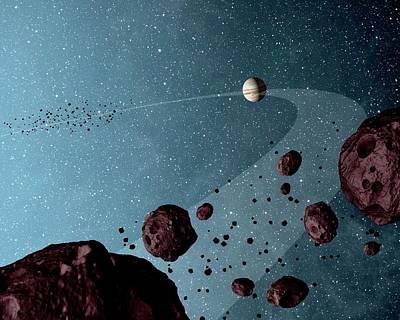Jovian Trojans Print by Nasa/jpl-caltech