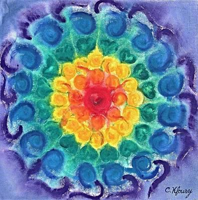 Joyful Chakra Original by Christine Kfoury
