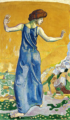 Ferdinand Hodler Painting - Joyful Woman by Ferdinand Hodler