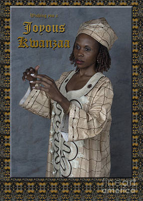 By Govan Vertical Format Photograph - Joyous Kwanzaa  Photo Greeting Card by Andrew Govan Dantzler
