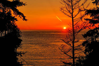 Juan De Fuca Photograph - Juan De Fuca Sunset by Greg Norrell