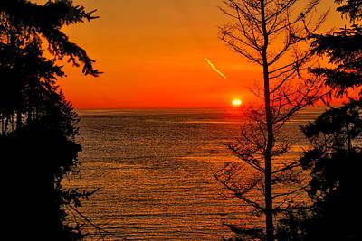 Beach Photograph - Juan De Fuca Sunset by Greg Norrell