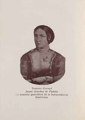 American Independance Photograph - Juana Asurduy De Padilla by British Library