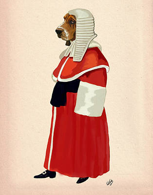 Judge Dog Full Print by Kelly McLaughlan