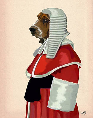Judge Dog Portrait Print by Kelly McLaughlan
