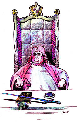 Judge And The Bible Print by Magdalena Walulik