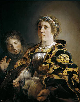 Judith Painting - Judith With The Head Of Holofernes by Salomon de Bray