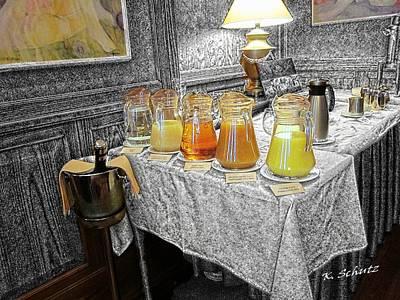 Grapefruit Digital Art - Juice Bar by Kelly Schutz