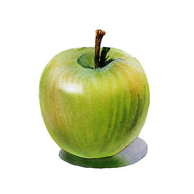 Juicy Green Apple Print by Irina Sztukowski
