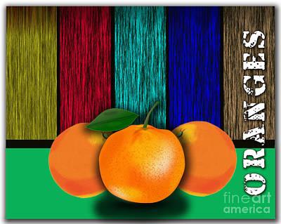 Oranges Mixed Media - Juicy Oranges  by Marvin Blaine