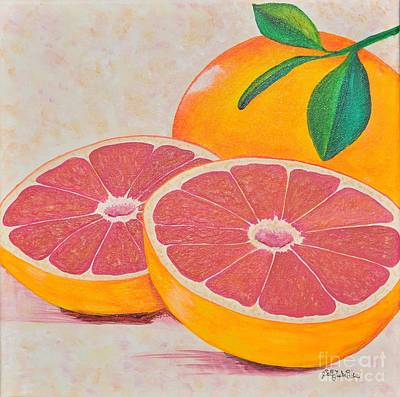 Juicy Pink Grapefruit Original by Sally Rice