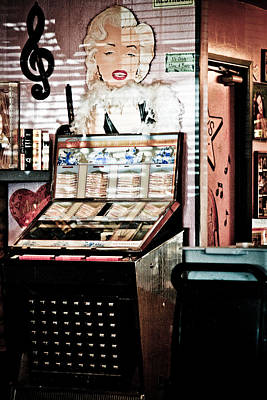 Peggy Sues Diner Photograph - Juke Box by Ellen and Udo Klinkel