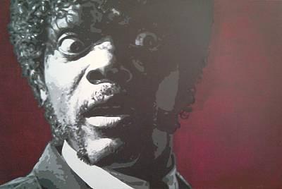 Tarantino Film Painting - Jules by Davide Farina