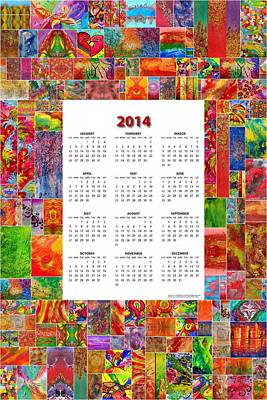 Abstract Painting - Julia Fine Art Calendar 2014 by Julia Fine Art And Photography