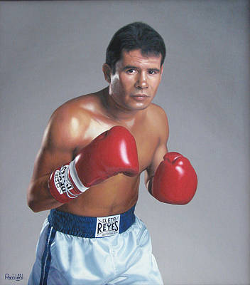 Cesar Chavez Painting - Julio Cesar Chavez by Paco Leal