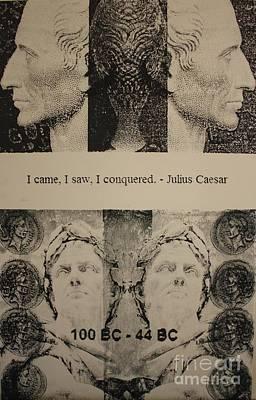 Julius Caesar Quote  Print by Michael Kulick