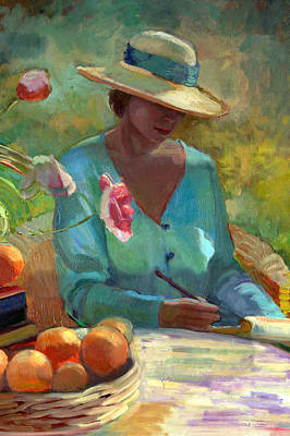 July Painting - July Thoughts by Sally  Rosenbaum