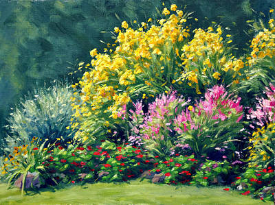 July Painting - July's Garden by Rick Hansen