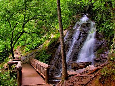 Great Smoky Mountain National Park Photograph - Juney Whank Falls by Carol R Montoya